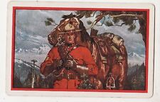 CANADIAN MOUNTIES AND THEIR HORSES  #12  Single Vintage Swap/Playing Card