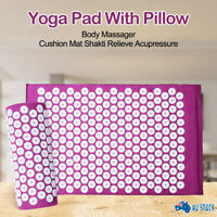 New Massage Acupressure Mat Yoga Shakti Sit Lying Mats Cut Pain Stress Soreness