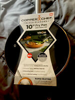 "Copper Chef Round Frying Pan with Lid Black Diamond 10"" Super Non-Stick Coating"