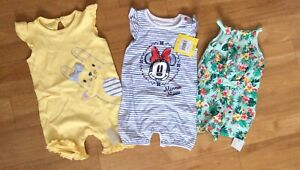 3-6 Months All In One Suits Outfits X 3 New With Tags
