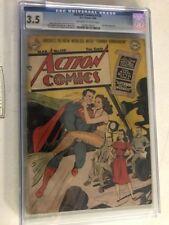 Action Comics #130 CGC 3.5 Superman Ann Blyth Appearance Golden Age !
