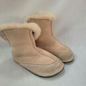 UGG Baby Booties Large Toddler Pink Sheepskin and Shearling Lining Boots