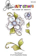 """Loralie Art Stamp - 701073 First Flower - 4"""" x 6"""" Cling Rubber Sheet"""