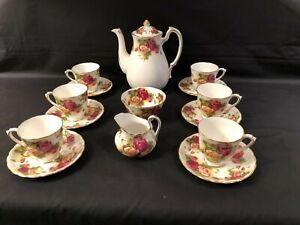 """NEW CHELSEA STAFFS"" FINE BONE CHINA FLORAL ROSE ENGLISH VINTAGE TEA SET"