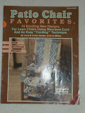 New listing Patio Chair Favorites 14 Macrame Designs Plaid 8396 1989 Instructions Patterns
