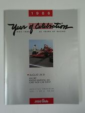 1986 Escort Radar Warning 200 Mid-Ohio Sports Car Course Program Bobby Rahal