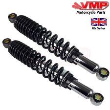 New Universal Motorcycle Rear Shock Absorbers Suspension Springs Pair 345mm