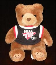 FULL TILT POKER TEDDY BEAR PLUSH Stuffed Animal by Artistic Toy -removable shirt