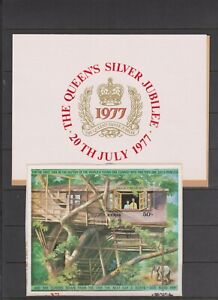 Kenya 1977 Silver Jubilee M/S Ex FDC pmk on piece per scan with insert
