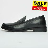 Red Tape Fiesta Mens Formal Casual Leather Slip On Shoes Black