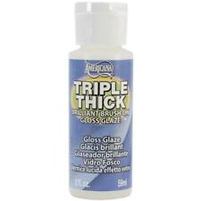 DECOART Triple Thick High GLOSS GLAZE Clear Clay Wood Metal Resin Wicker 2 oz