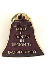 Vintage Danvers MA Region 12 Telephone Pioneers of America Pin