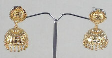 Indian Handmade Jewelry 14 K Gold Plated Earrings Jhumka Jhumki set 1 Step