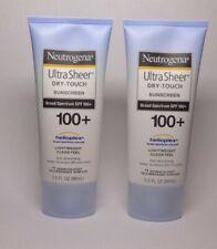 2 pcs Neutrogena UltraSheer Dry-Touch Sunscreen Lotion SPF 100+ 3 Oz EXP 06/2022