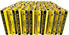 100 x AAA Rechargable Batterys 1.2V 400mAh Pack Electronic Devices Phones Toys