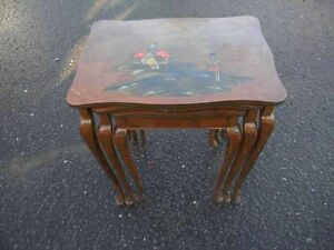 Nest of tables hand painted in the Chinese style