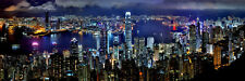 HONG KONG SKYLINE CITYSCAPE LANDSCAPE POSTER PRINT STYLE F 12x36 HI RES