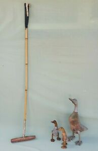 """Vintage J.Salter & Sons 51"""" Polo Mallet with Bamboo Shaft & 9½"""" Head #1"""