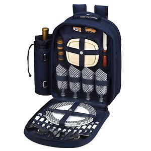 Picnic at Ascot Bold Picnic Backpack for 4  (081-BLB)