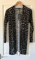 MARKS AND SPENCER M&S BLACK MIX PRINTED CARDIGAN TOP S SMALL NEW CASHMILION