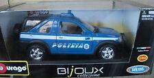 Bburago 22073 BIjoux collezione 1:24 POLIZIA LAND ROVER Metall NEU