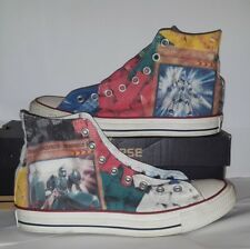 Converse 8.5 10.5 Shoe Custom Lego Yu-gi-oh Lance Sword shield High Top Heroic