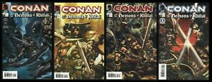 Conan and the Demons of Khitai Comic Set 1-2-3-4 Lot Nude 24 ad King Conan story