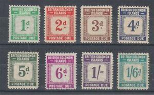 SOLOMON ISLANDS 1940 POSTAGE DUES MINT SET (x8) (ID:239/D60334)