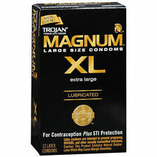 Trojan Magnum XL Lubricated Large Size Latex Condoms