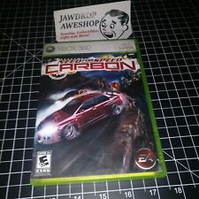 (REPLACEMENT CASE+MANUAL) NEED FOR SPEED CARBON XBOX 360 (NO GAME INCLUDED)