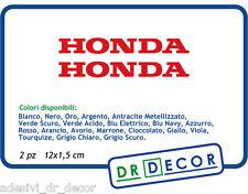 """Adesivi Moto"""" Honda """" SBK MotoGP HRC VFR CBR Hornet  Africa Twin 2pz 12 x 1,5 cm"""