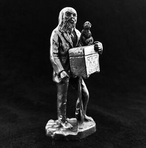 Royal Hampshire Antique Silvered Organ Grinder 'Cries of London' Figurine