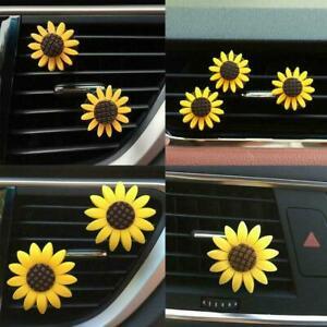 1Pc Car Accessories Air Freshener Cute Sunflower Scent Interior Diffuser New