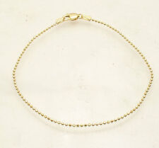 "7"" Diamond Cut Ball Bead Bracelet Lobster Clasp REAL Solid 14K Yellow Gold"