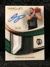 Gordon Hayward Celtics 2019-20 Panini Immaculate Auto Used Jersey Card /25
