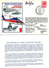 GB 1980 RAF FDC  BRISTOW HELICOPTER -OPERATION SPIRIT OF PARIS CERTIFIED- SIGNED