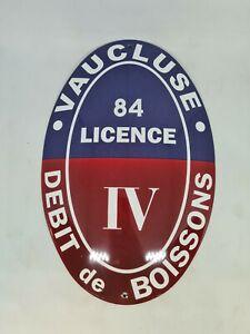 Plaque émaillée Licence IV VAUCLUSE