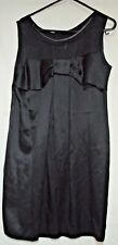 D & G (Dolce & Gabbana) Smart Designer Silk Little Black Dress IT 40 UK 10