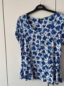 M& CO Bubble Hem Top Size 12 Floral Stretch
