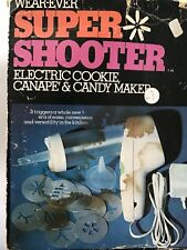 Vtg Wear-Ever Electric Super Shooter Cookie Candy Canape Maker 70001 Works!