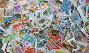 World Stamp mix 2,500 Stamps to sort on and off paper incl older