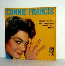 "RARE EP CONNIE FRANCIS  7"" ITALY 1960 JEALOUS OF YOU ( tango della gelosia ) +3"
