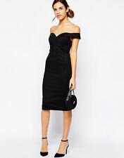 NWT $120 Bardot Off-The-Shoulder Sweetheart Neck Cocktail Dress Black sz X-Small