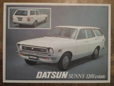 DATSUN SUNNY 120Y ESTATE orig 1977 UK Mkt Sales Leaflet Brochure - Nissan