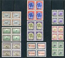 Greenland Scott#10/18 Facit#10/18 Set Of Blocks Of Four Mint Nh Full Og