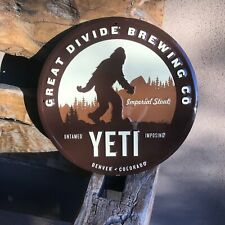 Great Divide Brewing Co Yeti Tin Tacker Metal Beer Sign