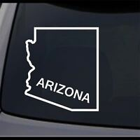 3 Pack - Arizona State AZ Map Outline State Permanent Vinyl Decal Bumper Sticker