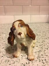 Vintage White and Brown English Setter Porcelain Dog Figurine Made in Japan