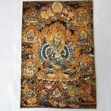 "36"" Tibet Tibetan Cloth Silk Buddha Yamantaka Tangka Thangka Mural 大威德金刚"