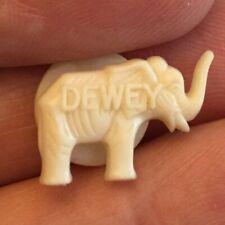 "1940's Thomas Dewey 5/8"" White Plastic Elephant Shirt Stud Authentic RARE $4.99!"